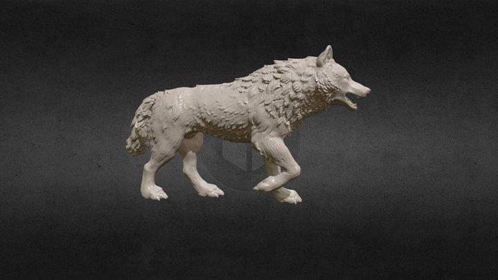 Wolf Figure 3D Model