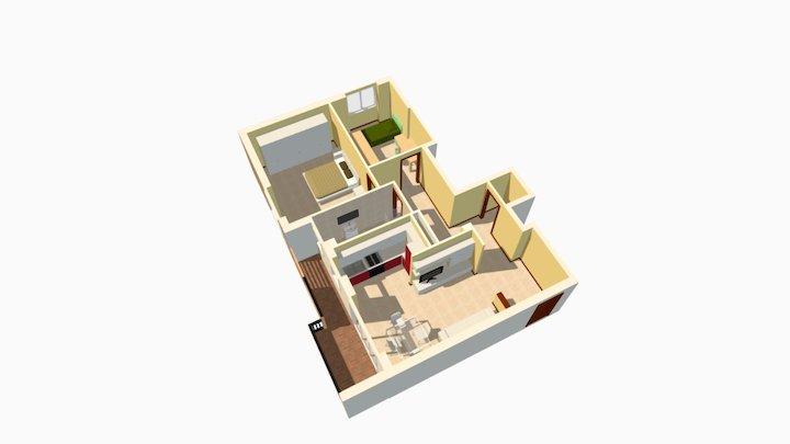 Trilocale Via Maspero Milano 3D Model