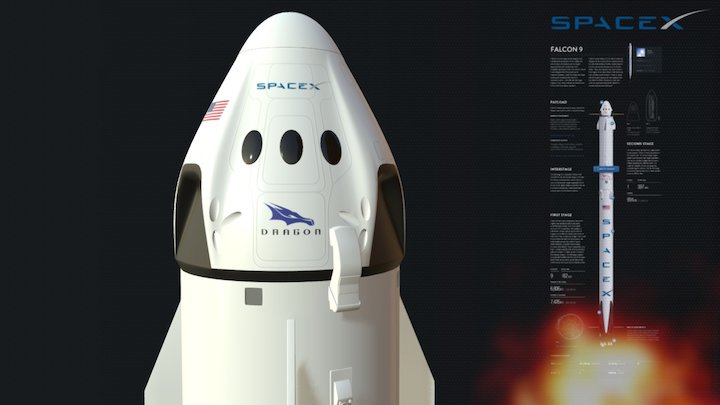 SpaceX Falcon 9 3D Model