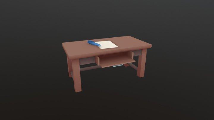 Desk - Household Props Challenge 3D Model