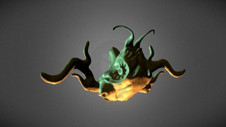 Alien Creature WIP 3D Model