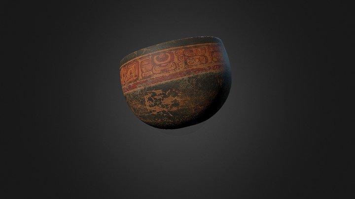 Сосуд из музея Пополь-Вух 3D Model