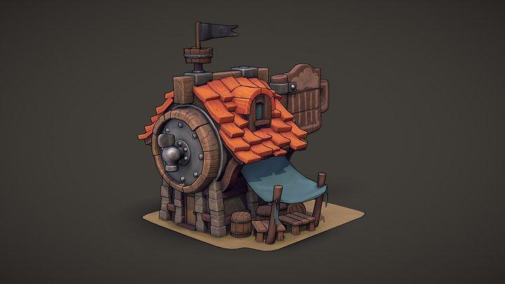 The Big Barrel Pub 3D Model
