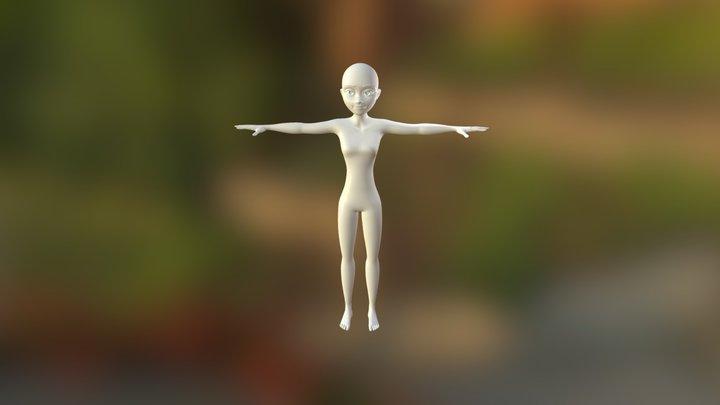 Modelo Femenino Rig07 3D Model