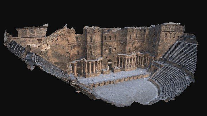 Roman Theatre_Bosra 3D Model