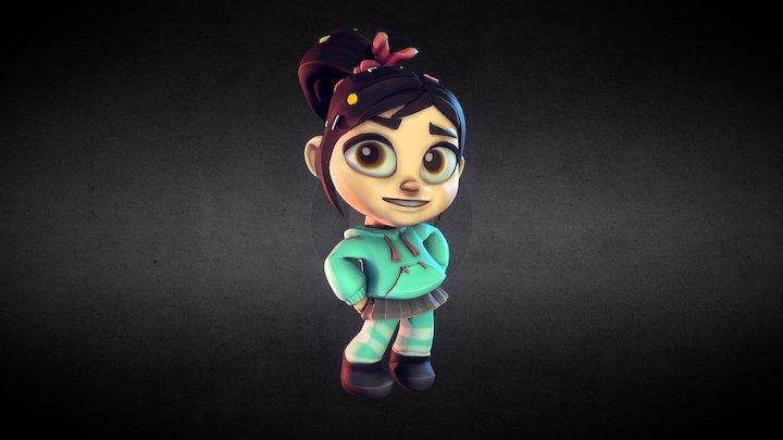 Vanellope - Disney Infinity Style 3D Model