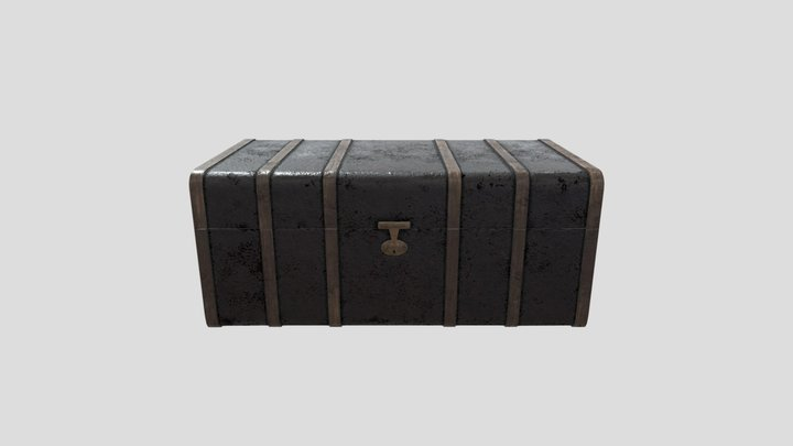 Old Dirty  Leather Chest 3D Model