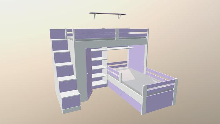 Krovat 3D Model