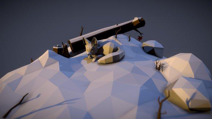 3December2018 Day13 - Snow Fox 3D Model