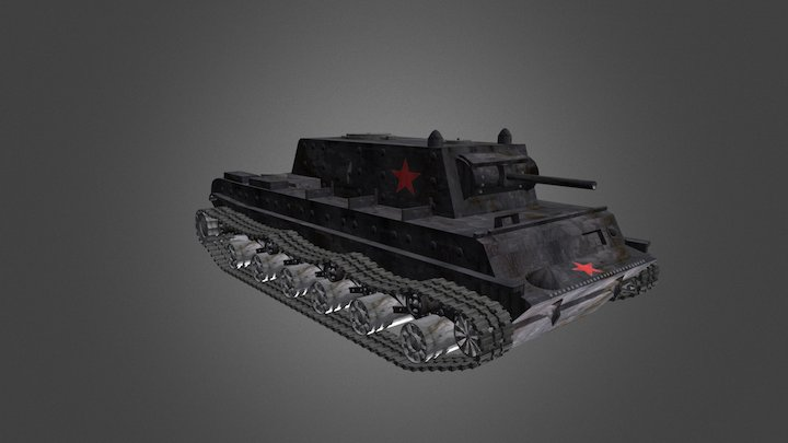 KV-1 Soviet Tank 3D Model