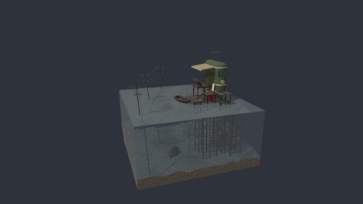 XYZ Daylics: Diorama Environment 3D Model