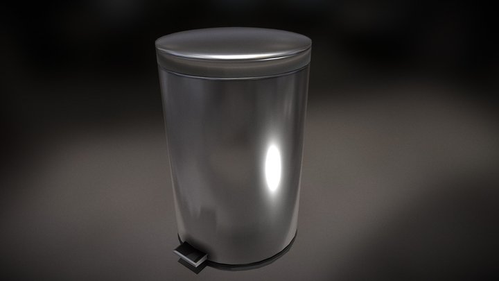 Trash Can with animations. Garbage Can animated 3D Model