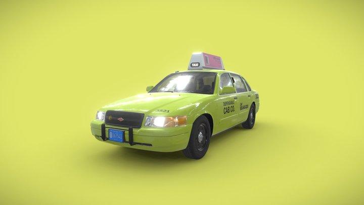 2008 Baird Silver Coronet Taxicab 3D Model