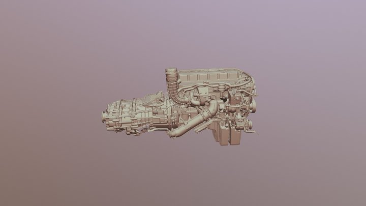 MAN engine low poly scanned by EinScan Pro+ 3D Model