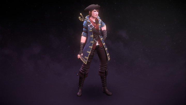 Pirate Village Character - DMU 1st Year 3D Model