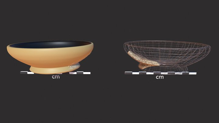 Roman Bowl Reconstructed from Base Sherd 3D Model