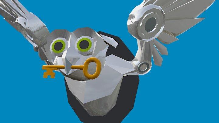 Robot Owl 3D Model