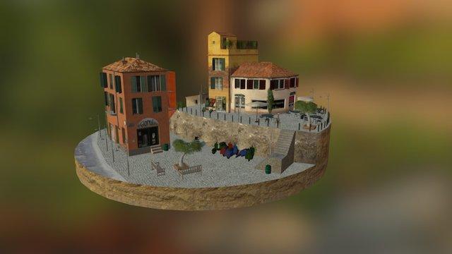 Cityscene Genua 3D Model