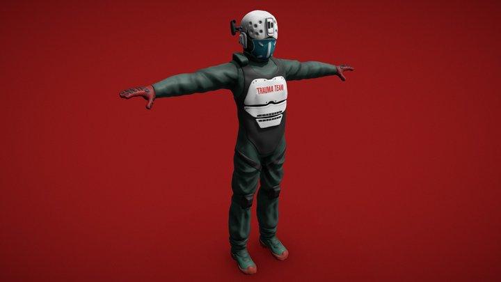 Cyberpunk 2077 TRAUMATEAM - Game ready 3D Model