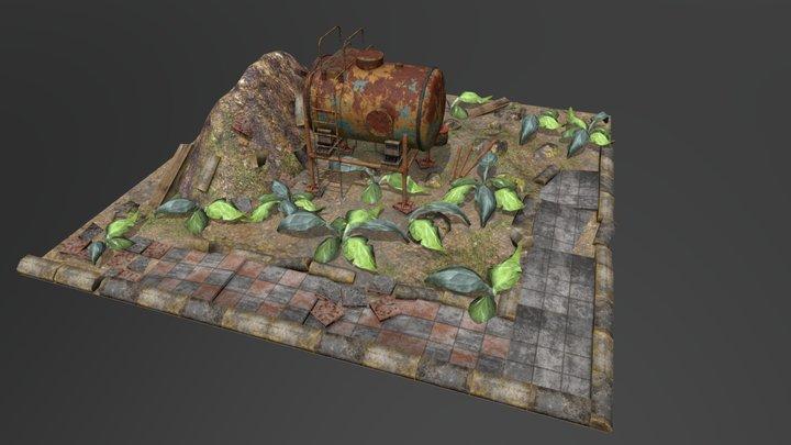 Barrel Block Brick 3D Model