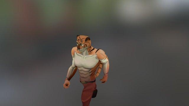 SLICK: Ruff Justice - Tiger Walk animation 3D Model