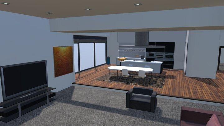 Realistic Modern Apartment 3D Model