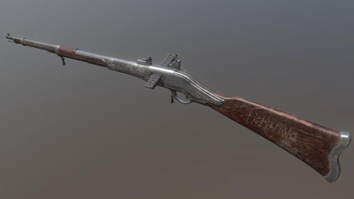 Steampunk Rifle 3D Model