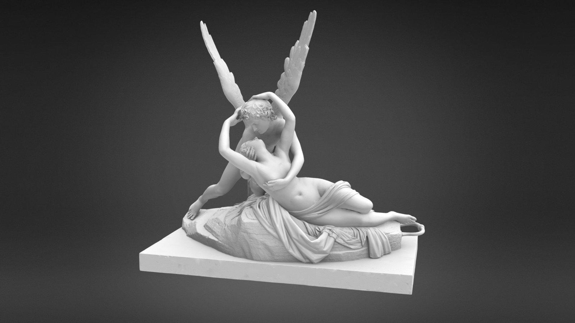 Psyché ranimée par le baiser de l'Amour - 3D model by Rmn ...