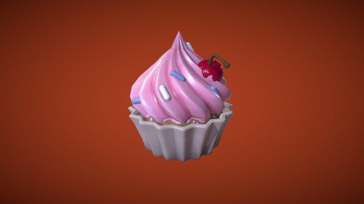 Birthday Cupcake 3D Model