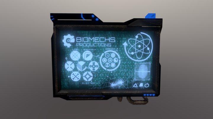 Sci-Fi Screen - 3D Model 3D Model