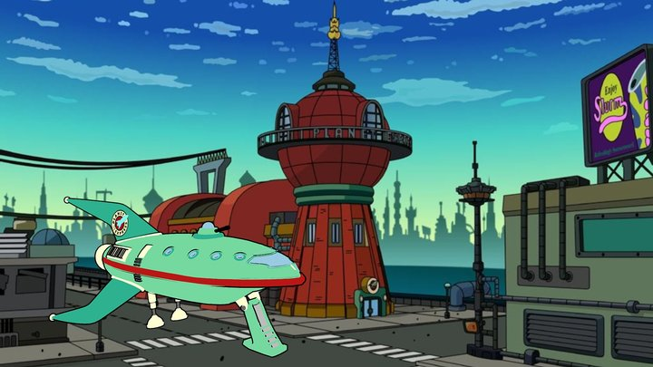 Futurama Planet Express Spaceship 3D Model