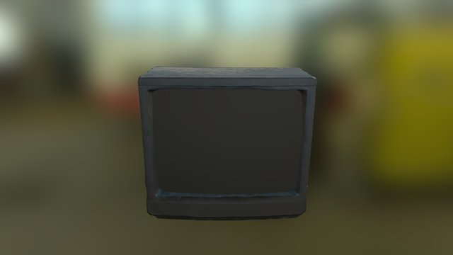 Dusty Television 3D Model