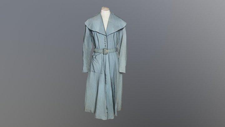 1950's Blue Wedding Dress 3D Model