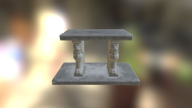 Lion bench 3D Model