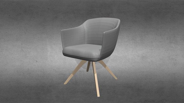 Кресло 640 от Rolf-benz 3D Model