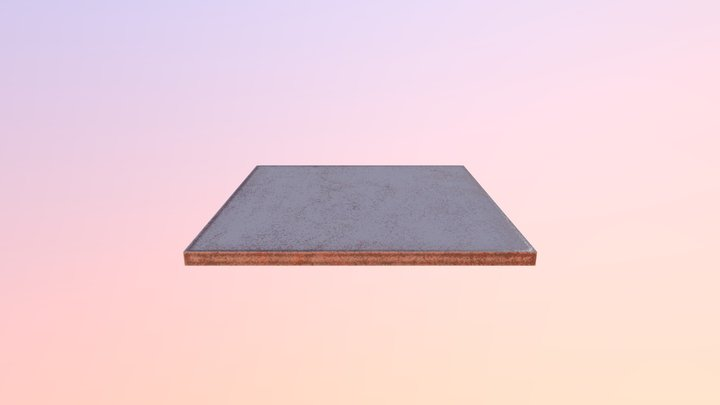 Worn roof tile 3D Model