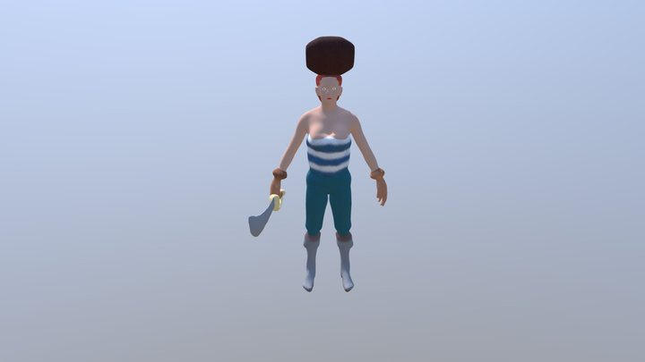 Female Pirate 2018 3D Model