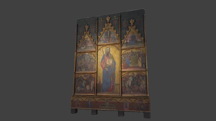 Retaule de Sant Pau / Retablo de San Pablo 3D Model