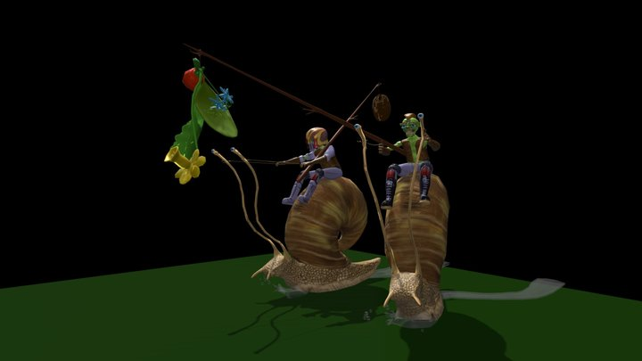 snail racing 3D Model