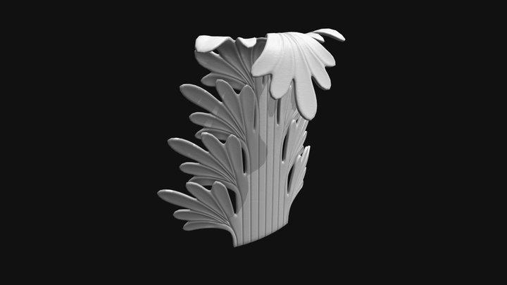 Ornament Decoration Element - Acanthus 2 3D Model