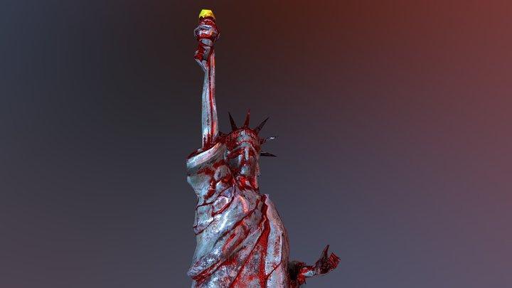 Statue of Liberty Possessed 3D Model