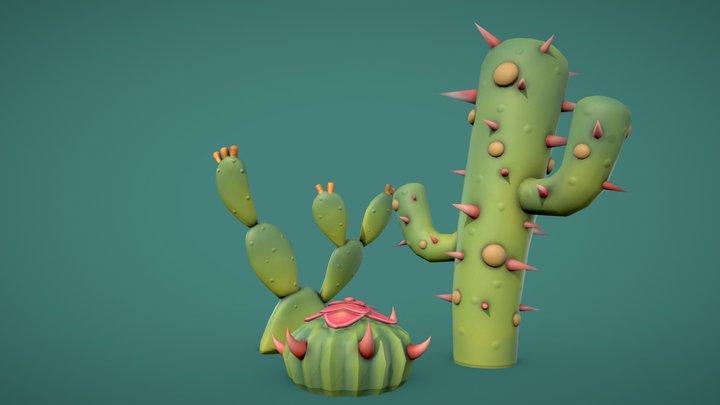 Stylized Cactus 3D Model