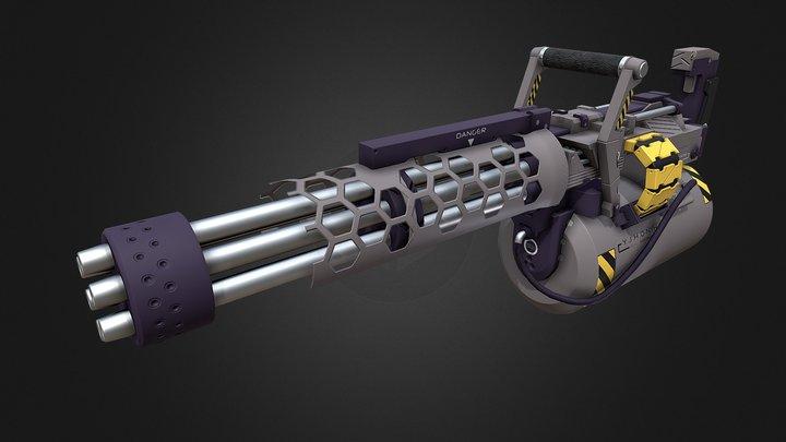 Exteel Minigun 3D Model