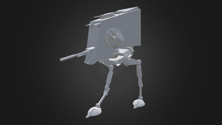 Star Wars' ATST Walker Rigged Model 3D Model