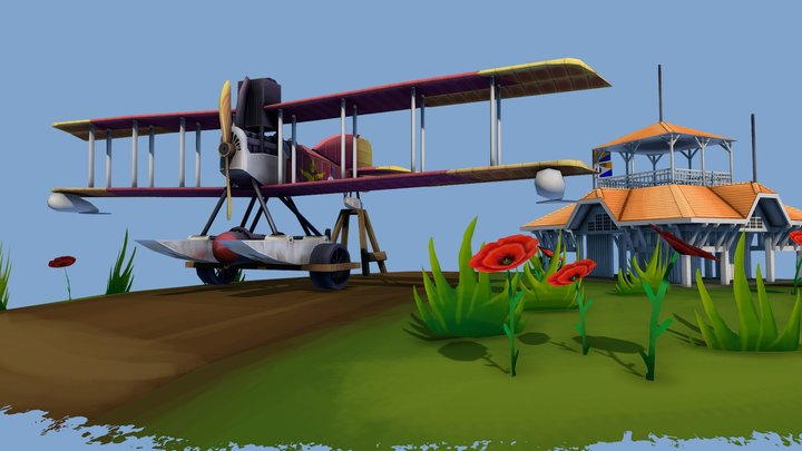 DAE_Short 184 The Flying Circus 3D Model