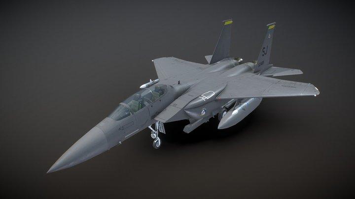 McDonnell Douglas F-15E Strike Eagle - Low Poly 3D Model