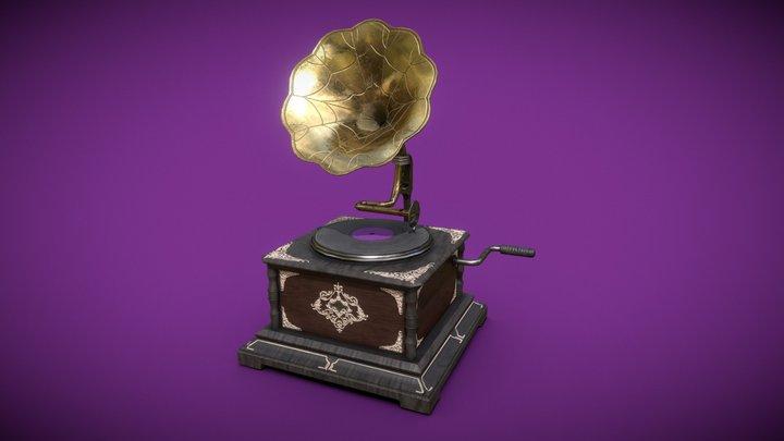 Fancy Gramophone 3D Model