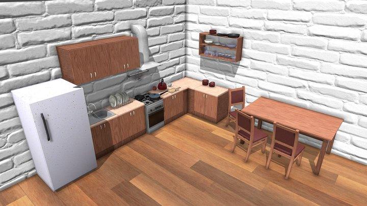 Kitchen Scene - Kitchen Pack v2 3D Model