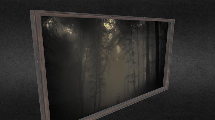 Large Framed Picture [WOOD] 3D Model
