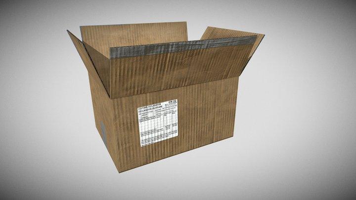A Cardboard Box 3D Model